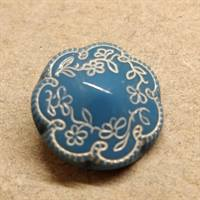 17 mm. Gammel glas knap, old glass button.