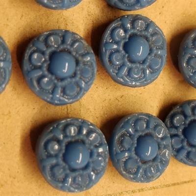 10 mm. Gammel glas knap, old glass button.