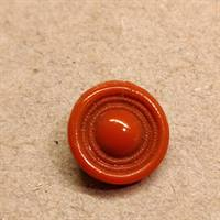 12 mm. brun orange glas knap.